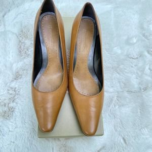 Naturalizer Franie Tan Leather Pointed Pumps-6.5